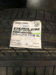 2 New 285 45 19 Bridgestone Dueler H P Sport Rft Run Flat Tires