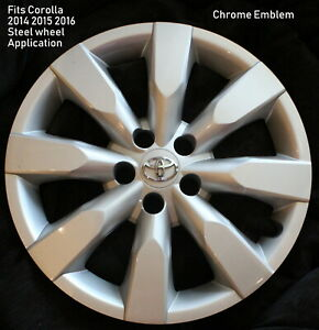 One Fits Toyota Corolla 2014 2015 2016 Hubcap Fits 16 Wheel