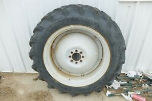 Ford Jubilee Tractor Engine Rear Back Wheel Rim And Tire