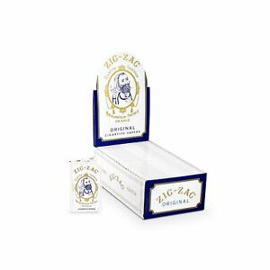 Zig Zag Rolling Papers Original Single Wide White 24 Booklet Carton $35.99