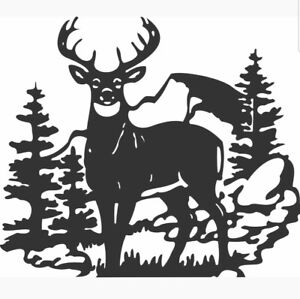 Dxf Cnc Plasma Laser Water Jet Router Cut Ready Vector Deer