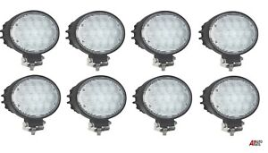 8 Pcs High Power 65w Led 6 3 Oval Led Work Lights 12 24v Lorry Tractor Offroad
