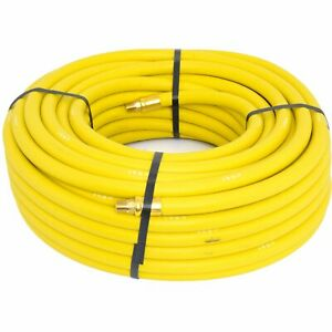 Goodyear Air Hose 12914 Yellow Rubber Air Hose 1 4 Solid Brass End Fittings 100