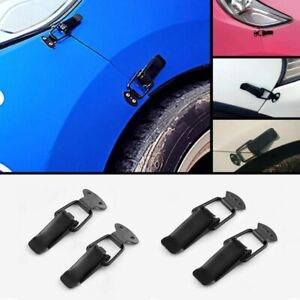 2pc Bumper Security Hook Lock Auto Universal Clip Kit Hasp For Racing Car Truck