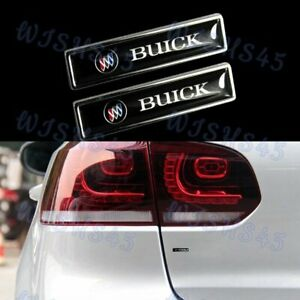 New For Buick Emblem Luxury Auto Car Body Fender Metal Badge Sticker Decal 2pcs