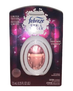 Febreze Small Spaces Fresh Twist Cranberry Air Freshener New Sealed In Package