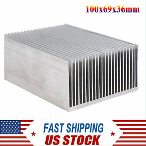 100x69x36mm Aluminum Heat Sink Fit For Led Transistor Ic Module Power Supply Usa