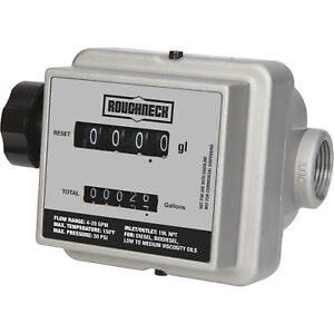 Roughneck Mechanical Fuel Meter 4 20 Gpm 1in Inlet outlet