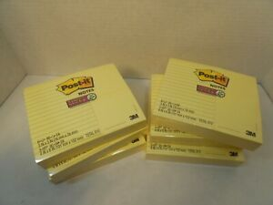 Post it Super Sticky Notes 3 Pads 4x6 6 Pads 3x3 Classic Yellow 90 Sheets 6pk
