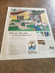 1951 Vintage  Print Ad Dutch Boy Paints. Does your home look as if you're proud