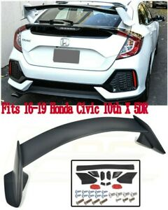 Fit 16 19 Honda Civic 10th X 5dr Hatchback Type R Unpainted Trunk Wing Spoiler M