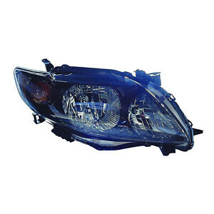 Passenger Side High Quality Capa Headlight For 2009 2010 Toyota Corolla S Xrs