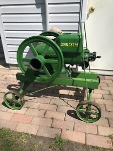 1 5 Hp John Deere Hit Miss Gas Engine With Correct Pull Cart Hand Truck 1 1 2 Hp