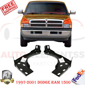 Set Of 2 Inner Front Bumper Brackets For 1997 2001 Dodge Ram Truck