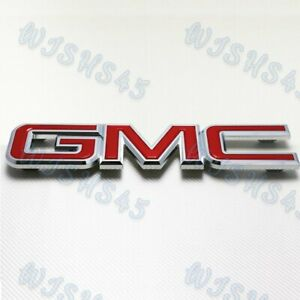 Front Grille Red Emblem Badge For 2008 2010 Gmc Sierra 1500 2500hd 3500hd New