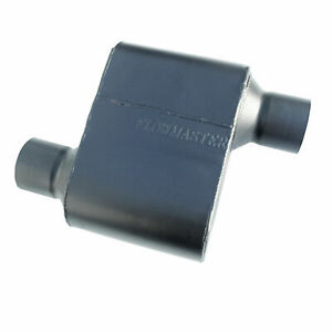 Flowmaster Super 10 Series Muffler 2 5 Offset In Out 409s Stainless 842518