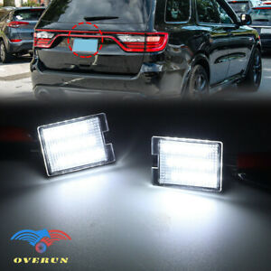 Fits 2014 2020 Dodge Durango 18smd Bright White Led License Plate Light Lamp Set