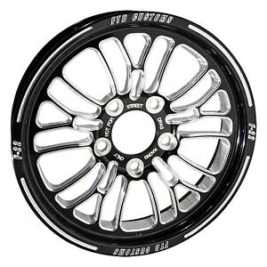 Ftd Customs F22 Black Anodized Drag Racing Wheels 5 On 4 750 Chevy Bolt Pattern