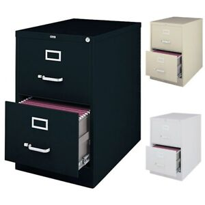 Hirsh 25 inch Deep 2 drawer Legal size Commercial Vertical Legal