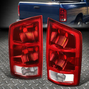 For 02 06 Dodge Ram 1500 2500 3500 Pickup Truck Led Tail Light Brake Lamps Red