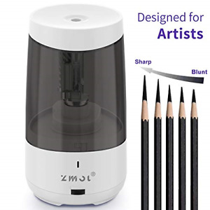 Long Point Pencil Sharpener Artists Heavy Duty Electric Pencil Rechargeable P