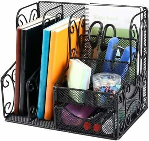Office Supplies Desk Organizers And Accessories Storage Caddy With Drawer Black