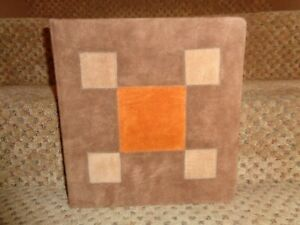 Vintage Suede Leather Block Pattern 3 ring Notebook Photos Collections Binder