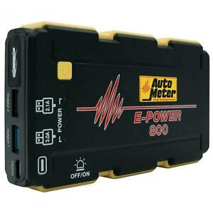Autometer Ep 800 Emergency Battery Pack Jump Starter 1800 Mah 400 Cranking Amps