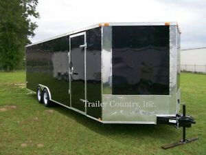 New 8 5x20 8 5 X 20 V nosed Enclosed Carhauler Motorcycle Bike Atv Cargo Trailer