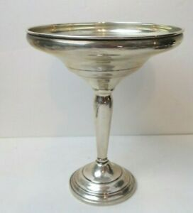 Sterling Silver 6 5 Tall 5 Diameter Bowl Dish Pedestal Compote Weighted Base