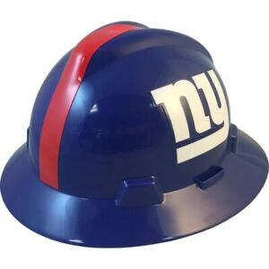New York Giants Msa Nfl Full Brim Hard Hat With Fas Trac Suspension