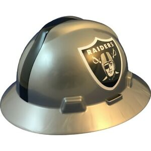 Oakland Raiders Msa Nfl Full Brim Hard Hat With Fas Trac Suspension