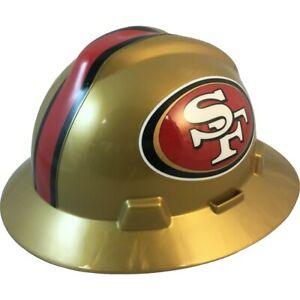 San Francisco 49ers Msa Nfl Full Brim Hard Hat With Fas Trac Suspension