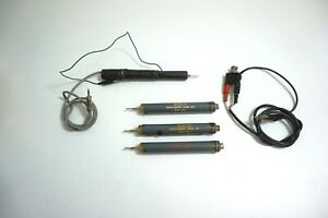 Lot Of 3 Vintage Paco Oscilloscope Probes As 1 Set With Bonus Probe