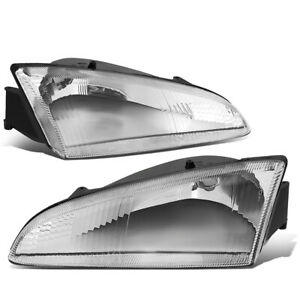 For 1993 1997 Dodge Intrepid Oe Style Chrome Clear Headlight Lamps Left right