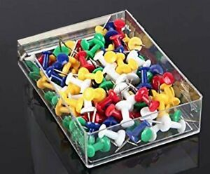 200 Pcs Push Pin Pins Thumb Tack Multi Color 3 8 Head For Office School Home