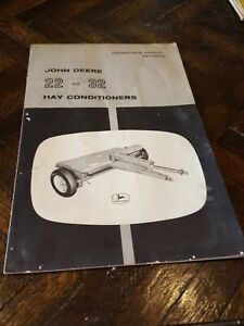 John Deere 22 32 Hay Conditioner Parts Catalog Manual Book Original Om e36259