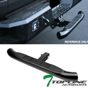 Topline 2 Trailer Tow Hitch Receiver Rear Bumper Step Bar For Chevy T04 Black