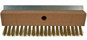 Bristles Industrial Strength Pizza Oven Stone Brush Scraper And Cleaner 10 Inch