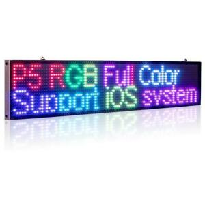 50cm P5mm Rgb Led Sign Full Color Multicolor Programmable Scrolling Message Led