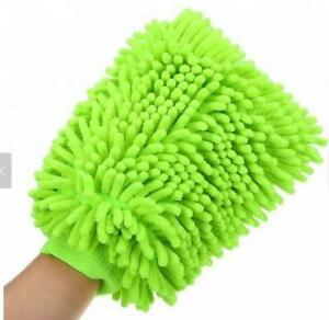 2pcshigh Quality Car Washing Gloves Soft Microfiber Chenille Mitt Car Wash Glove