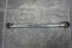 Snap On Flank Drive 10 Offset Double Box Wrench 18mm 21mm Xbm1821a 12pt