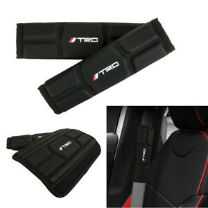 Leather Memory Foam Car Seat Belt Covers Shoulder Pads Cushion Fit For Toyota