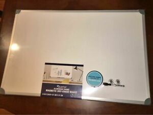 Magnetic Dry Erase White Board 24 x 36 Office School Supplies Aluminium Frame