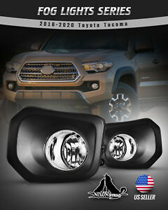 For 16 20 Toyota Tacoma Sr Sr5 Fog Lights Clear Lens H11 Lamps Pair W wiring Kit