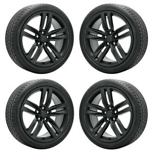 20x8 Chevrolet Camaro Rs Ss Black Wheels Rims Tires Factory Oem Gm 20 Set 5762