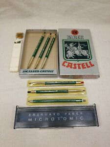 A w Faber Castell Lead Holder Lot 9800sg Drafting Pencils Extras
