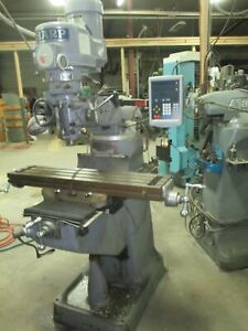 Used Sharp Manual Milling Machine W C80 Newall Digital Readout System dp