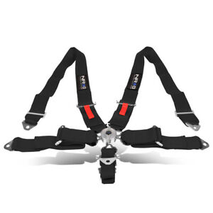 Nrg Sbh R6pcbk 5 Point 3 Width Safety Racing Harness Seat Belt W Steel Cam Lock