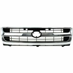 New Grille Chrome Shell Fits Toyota Tacoma 1997 2000 To1200205 5310004070